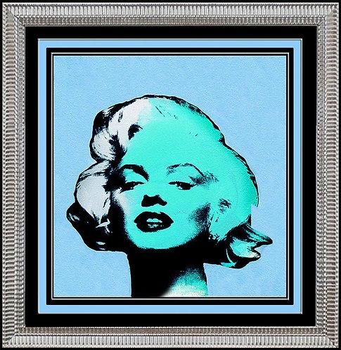 """""""Marilyn Monroe in Blue"""" by Steve Kaufman"""