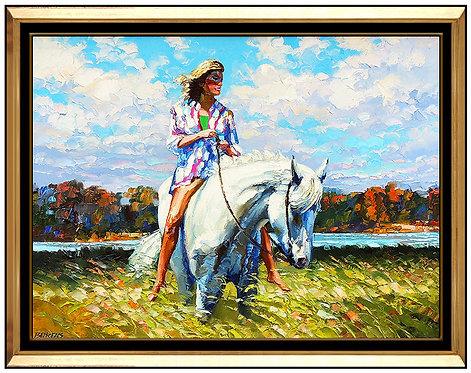 """""""Original White Stallion"""" by Howard Behrens"""