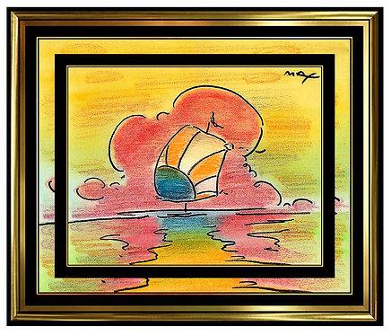 """""""Original Sailboat 97"""" by Peter Max"""