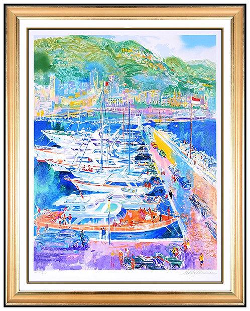 """""""Harbor At Monaco"""" by LeRoy Neiman"""