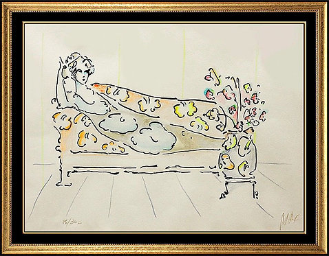 """Lady on Couch #1"" by Peter Max"