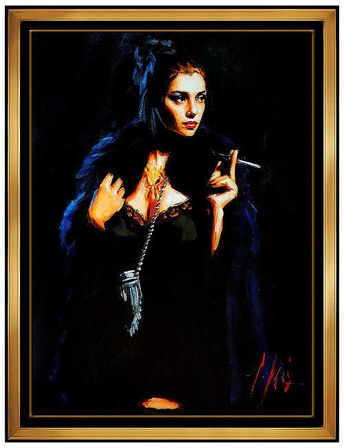 """Blue Rabbit II - Hand Embellished"" by Fabian Perez"
