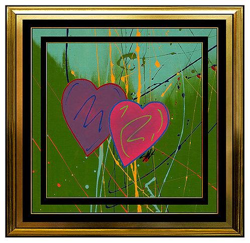 """Original Multi-Colored Hearts"" by Steve Kaufman"