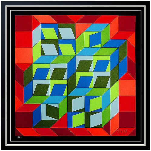 """Kinetic Composition"" by Victor Vasarely"