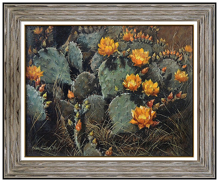 """Original Cactus with Yellow Blooms"" by Helen Hunter"
