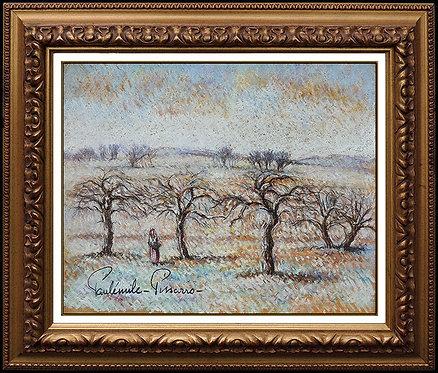 """""""Arbres En Hiver"""" by Paul Emile Pissarro"""