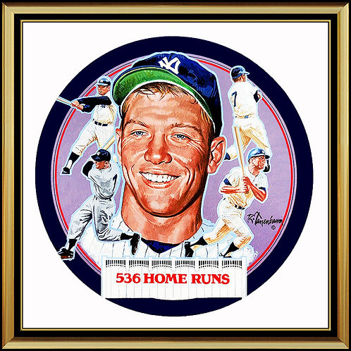 """""""Original Mickey Mantle For Collector Plate"""" by Robert Tanenbaum"""