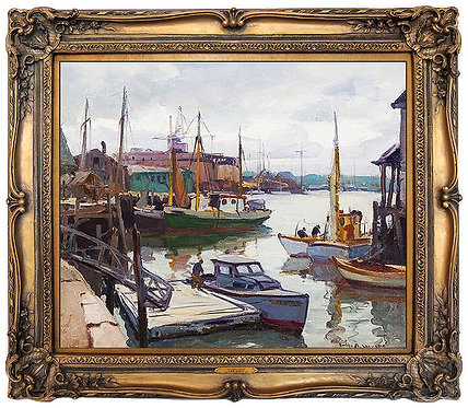 """Original Rockport Harbor"" by Emile A. Gruppe"