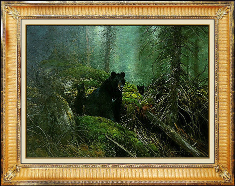 """""""In the Forest Black Bears"""" by Michael Coleman"""