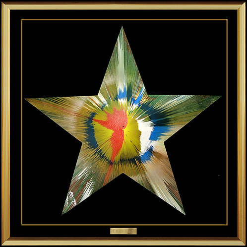 """Original Star Spin Painting"" by Damien Hirst"