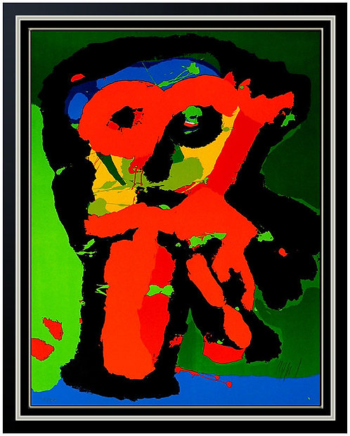 """Abstract Owl"" by Karel Appel"