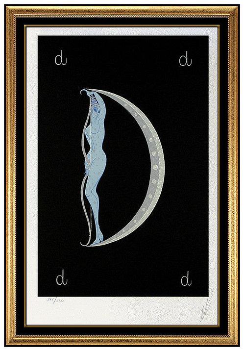 """""""Letter D"""" by Erte"""
