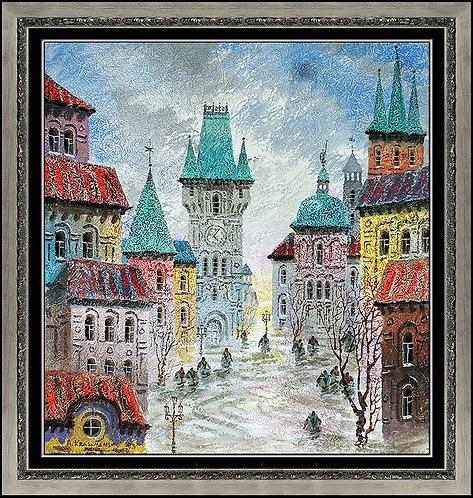 """Original City Square Of Tallinn"" by Antole Kranyansky"