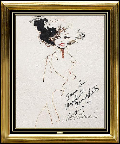 """Diva Diana Ross"" by Leroy Neiman"