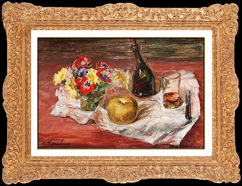 """Original Nature Morte a la Pomme"" by Andre Hambourg"