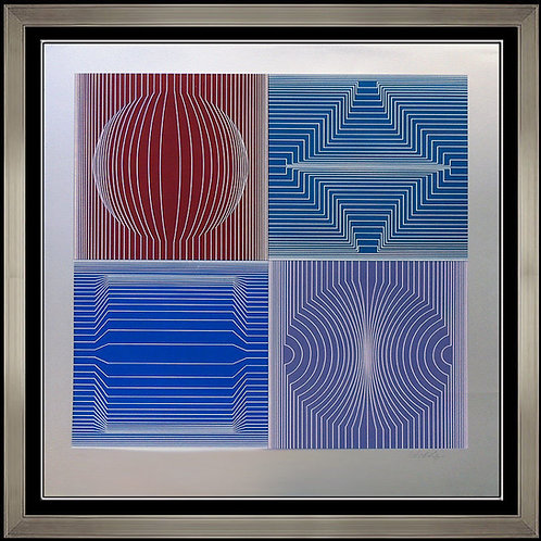 """Tokyo"" by Victor Vasarely"