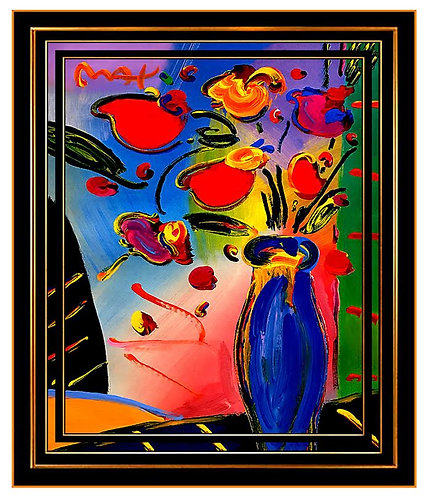 """Vase of Flowers"" by Peter Max"