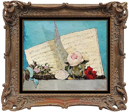 """""""Original Livre de Musique Avec Rose"""" by Dietz Edward"""
