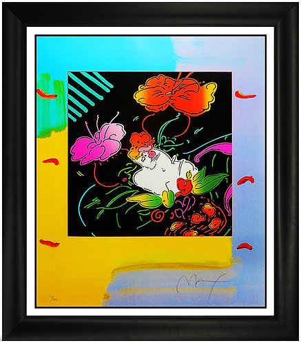 """""""Lady Floating Flowers"""" by Peter Max"""