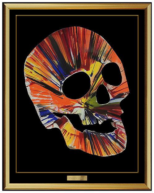 """Original Skull Spin Painting"" by Damien Hirst"
