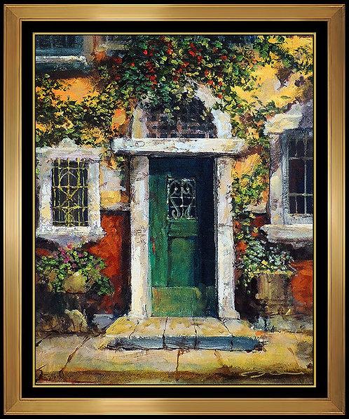 """Green Door in Naples"""" by James Coleman"""