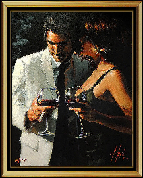 """The Proposal XII - Hand Embellished"" by Fabian Perez"