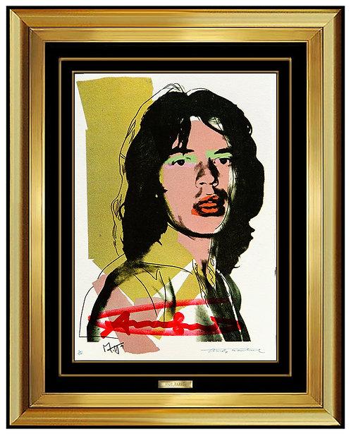 """Mick Jagger (Invitation)"" by Andy Warhol"
