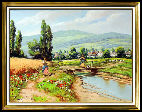 """The Foot Bridge"" by Laszlo Neogrady"