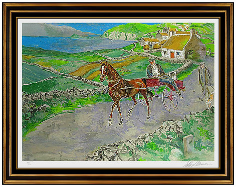 """""""Nostalgic Journey/ Irish Landscape"""" by Leroy Neiman"""