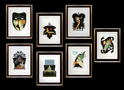 """""""The 7 Deadly Sins Suite"""" by Erte"""