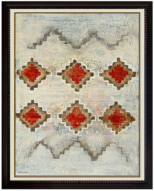 """Original Navajo Rug Motif"" by R.C. Gorman"
