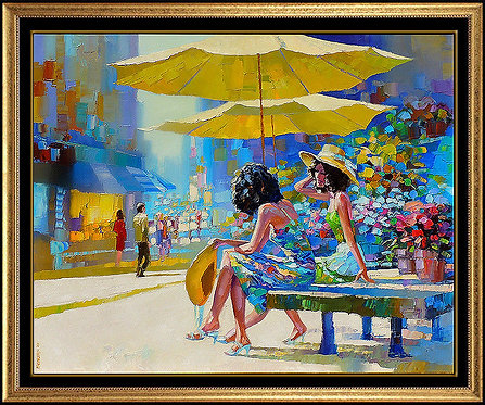 """Original Day Shopping in the City"" by Howard Behrens"