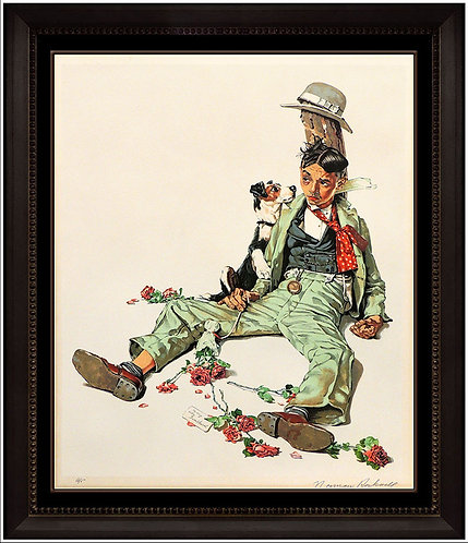 """Rejected Suitor"" by Norman Rockwell"