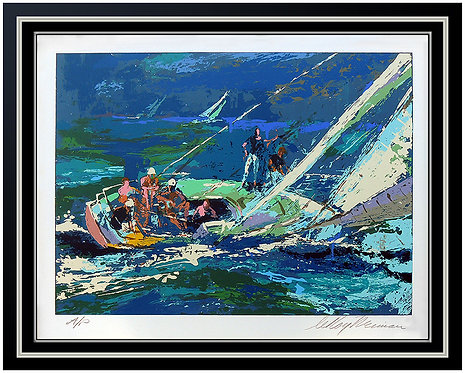 """Sailing"" by Leroy Neiman"