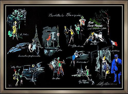 """""""La Nuit De Paris"""" by Leroy Neiman"""