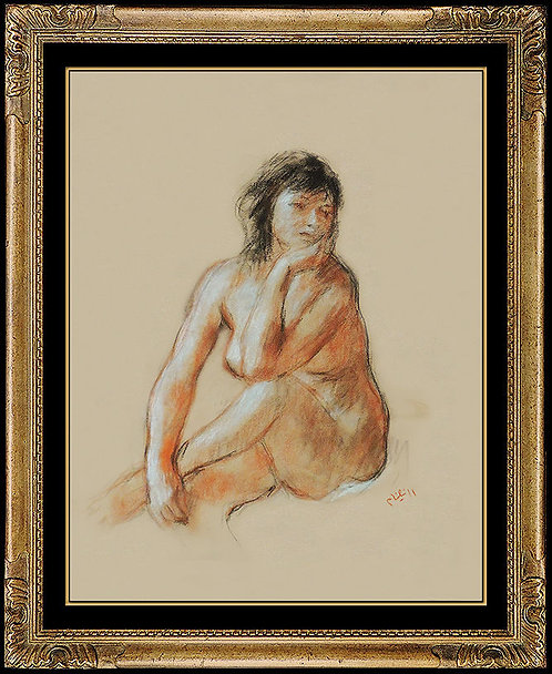 """Nude in Thought"" by Robert Phillipp"