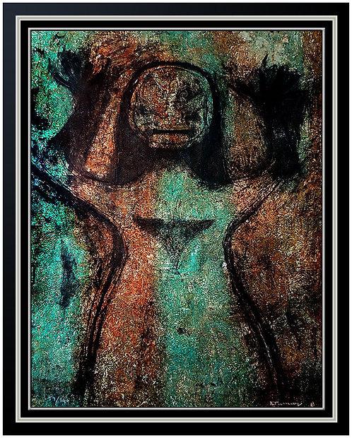 """""""Mujer con los Brazos en Alto"""" by Rufino Tamayo"""