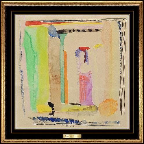 """Original Square Abstract"" by Robert Narkin"