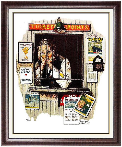 """Ticketseller"" by Norman Rockwell"