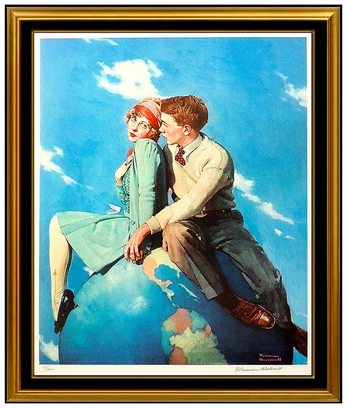 """""""Top of the World"""" by Norman Rockwell"""