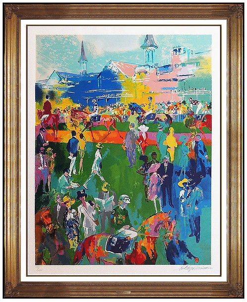 """Derby Day Paddock"" by LeRoy Neiman"