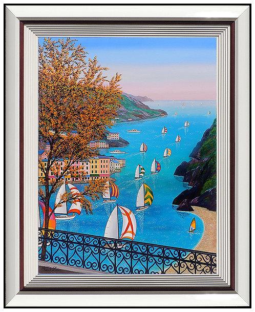 """""""Original Regatta en Portofino"""" by Fanch Ledan"""