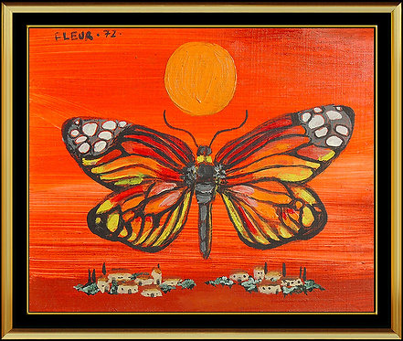 """Original Vibrant Monarch"" by Fleur Cowles"