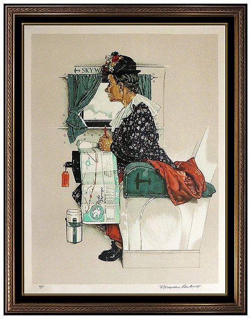 """""""First Airplane Ride"""" by Norman Rockwell"""
