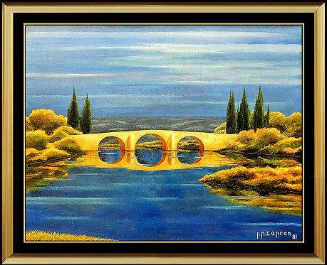 """""""Bridge over Still Water"""" by Jean Pierre Capron"""