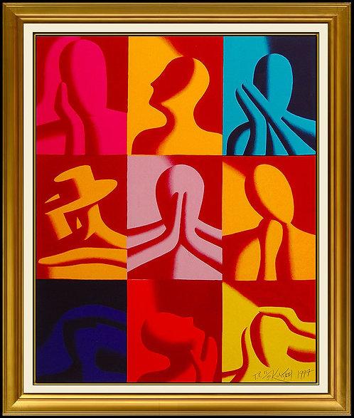 """""""Conversation Pieces"""" by Mark Kostabi"""