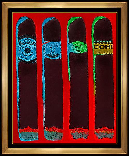 """""""Cuartro Cubanos"""" by Steve Kaufman"""