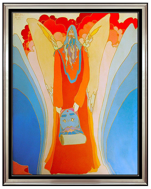 """""""Original Sage with Wings of Winged Sage"""" by Peter Max"""