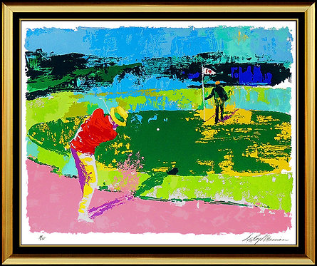 """Chipping On"" by Leroy Neiman"