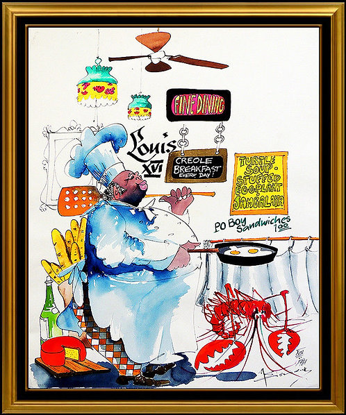 """Gettin Hot In the Kitchen - Original"" by Leo Meiersdoff"